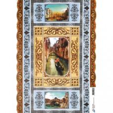 Бумага для декупажа, ВЕНЕЦИАНСКИЕ ОРНАМЕНТЫ, офс. 60Г/М2 (05289)
