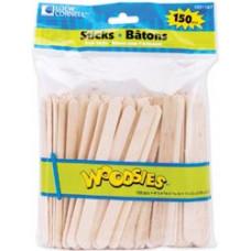 Деревянные палочки для поделок, 150 шт. (1021167)