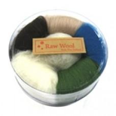 Шерсть для валяния 6 цветов, 30г (WOOL-306AS1)