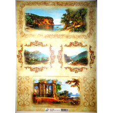 Бумага для декупажа, Фрески с орнаментами, офс. 60Г/М2 (5288)