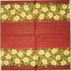 Салфетка Ароматный цветочный бордюр (732)