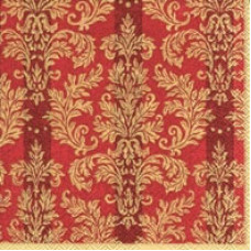 Салфетка Золотой жаккард на красном (735)