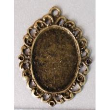 Основа для кулона овальная, бронза (987591)