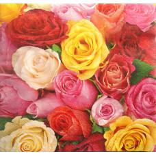Салфетка Радуга роз (768)