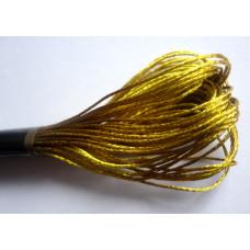 Металлизированная нить для вышивки (золотая)