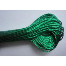 Металлизированная нить для вышивки (зеленая)