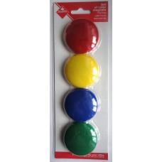 Набор цветных магнитов, 4 см. (KL-40)