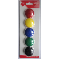 Набор цветных магнитов, 3 см. (KL-30)