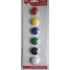 Набор цветных магнитов, 2 см. (KL-20)