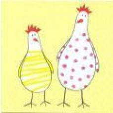 Салфетка Веселые петух и курица (813)