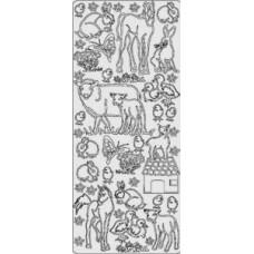 Наклейка Животные, золото (1850)