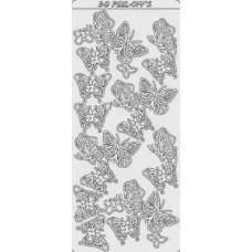 Наклейка Бабочки, золото (2095)