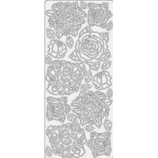 Наклейка Букеты из роз, золото (4204)