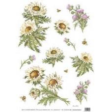 Бумага рисовая Полевые цветы (DC-5036)