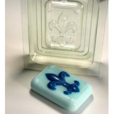 Форма для мыла 3D Флёр де Лиc (2 части)