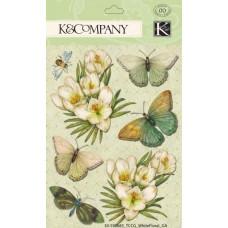 Объёмные наклейки White Floral (598683)