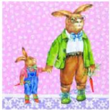 Салфетка Дружная семья зайцев (844)