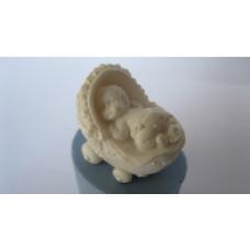 Молд силиконовый 3D Младенец в коляске 1 (18)