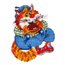 Набор для вышивания крестиком Чудесная игла Котик - круглый животик (15-09)