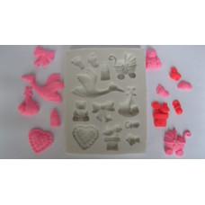 Молд силиконовый Набор детские игрушки (37)