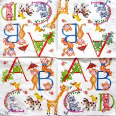 Салфетка Веселая азбука (853)