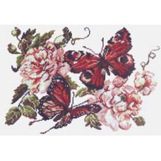 Набор для вышивания крестиком Чудесная игла Пионы и бабочки (42-06)