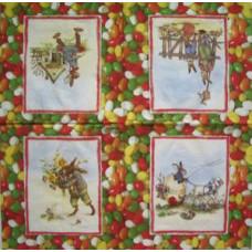 Салфетка пасхальная Веселые зайцы (879)