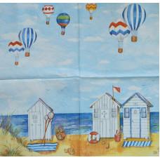Салфетка Воздушные шары над пляжем (894)