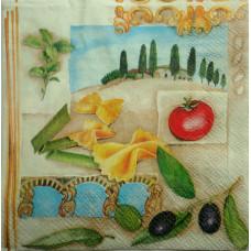 Салфетка для декупажа Idea Home Range Итальянские макароны (маленькая) (908)