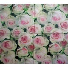 Салфетка Бело-розовые розы (934)