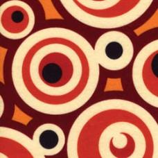Фетр (войлок) листовой с узорами (круги), 30 х 23 (K4ZPZ-04)
