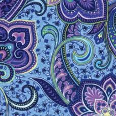 Фетр (войлок) листовой с узорами (голубые цветы), 30 х 23 (K4ZPZ-10)