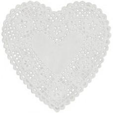Бумажные салфетки Сердце, белые (B23018)