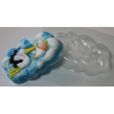 Форма для мыла Аист с младенцем