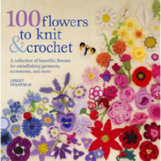 Книга 100 Flowers To Knit & Crochet (SM-38347)
