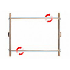Рамка для диванного станка (40 х 50 см) c корсажной, липкой лентой и круглыми вращающимися планками