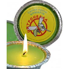 Ароматизированная свеча против комаров Цитронелла