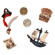 Набор пуговиц-украшений Пираты (4045)