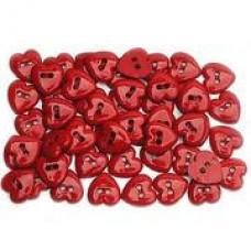 Набор пуговиц-украшений Блестящие сердца (1863)