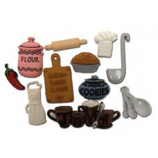 Набор пуговиц-украшений Кухня (338)