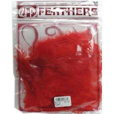 Перья Zucker Marabou Large  Red, 7 гр. (ZUC01868)