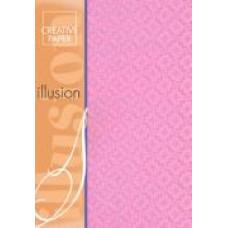 Набор бумаги голографической с узором,розовый (5710)