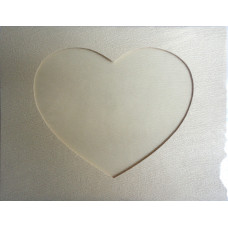 Заготовка для открытки Структура дерева, сердце, белая