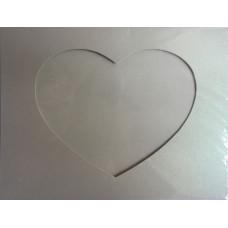 Заготовка для открытки Жемчужная ткань, сердце, светло-салатовая