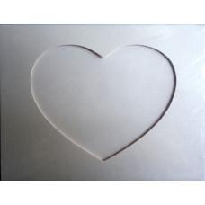 Заготовка для открытки Блестящий минерал, сердце, белый