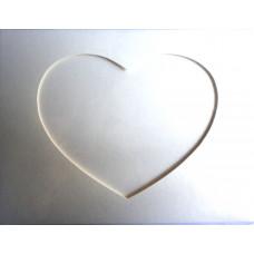 Заготовка для открытки Жемчужная ткань, сердце, слоновая кость