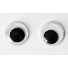 Глазки для игрушек, чёрные, 12мм (103259)