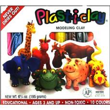 Набор глины Plast-i-clay для моделирования - 10 цветов (AMA91182F)