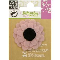 Цветок слоистый из фетра, розовый (FEL100.49894)