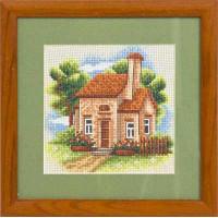 Набор для вышивания крестом Panna Домик в саду (АД-443)